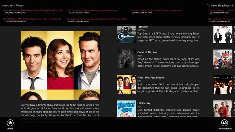 Watchlist screen shot 6