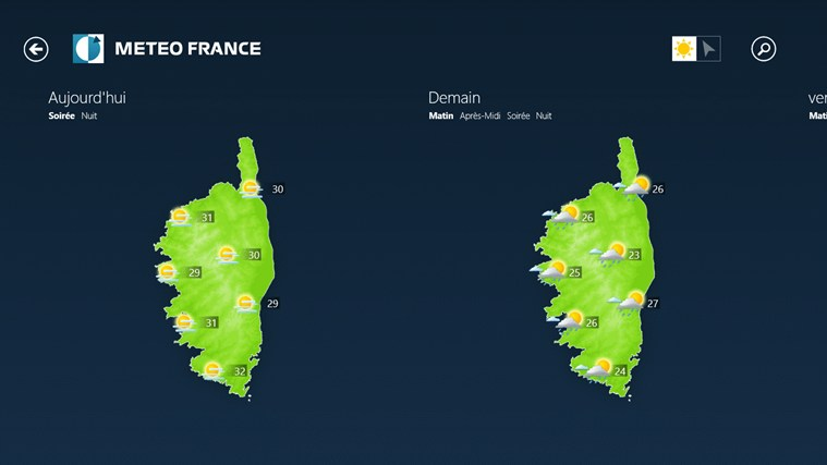 Météo-France capture d'écran 2