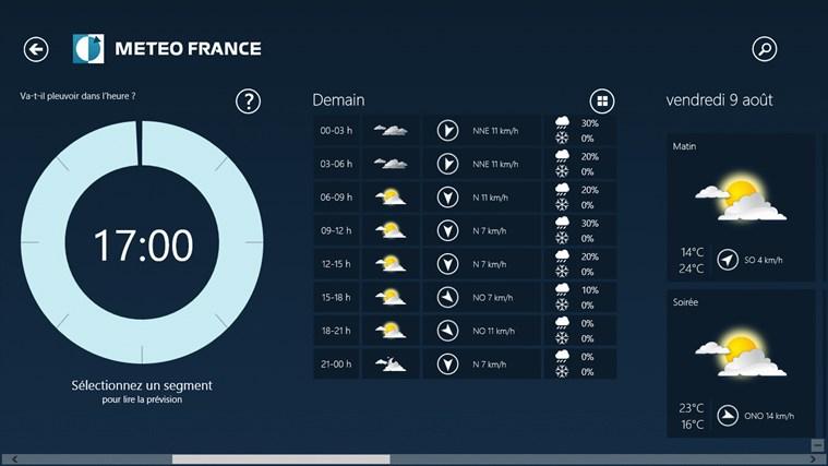 Météo-France capture d'écran 4