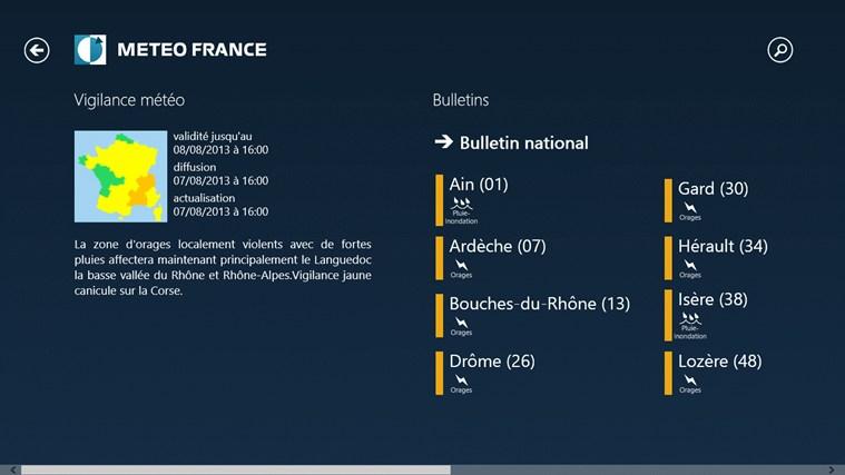 Météo-France capture d'écran 6