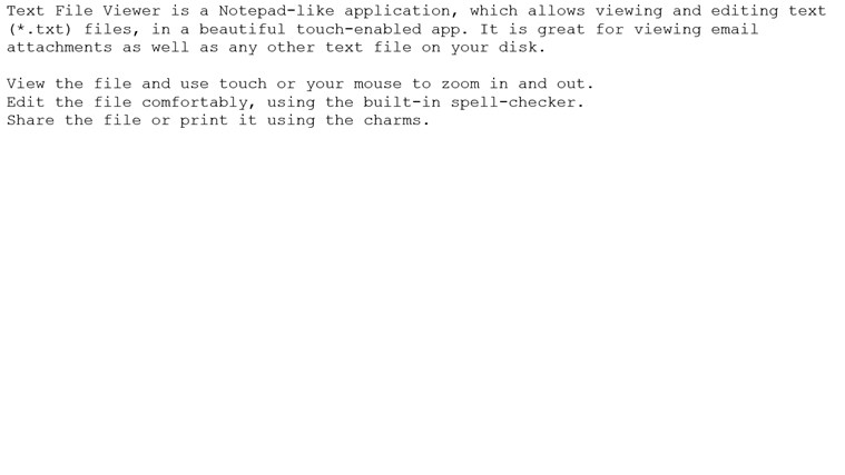 Text File Viewer screen shot 0