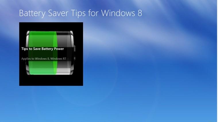 Battery saver for windows mobile