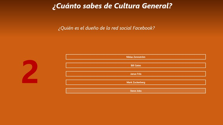 Cuánto sabes de Cultura General screen shot 2