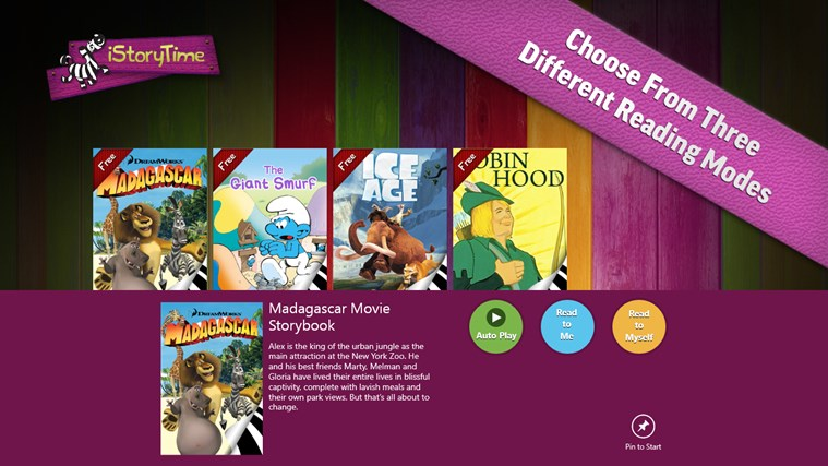 iStoryTime Library of Kids Books screen shot 2