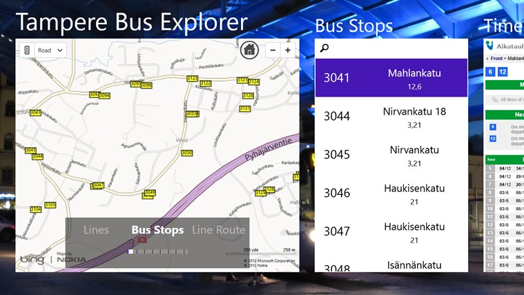 Tampere Bus Explorer screen shot 2