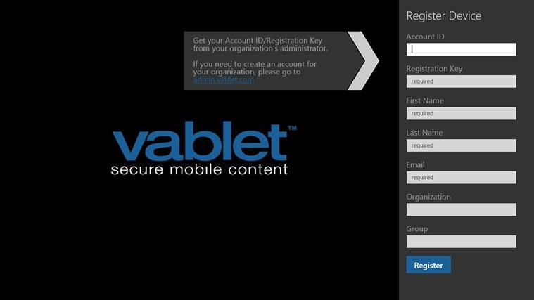 vablet screen shot 0
