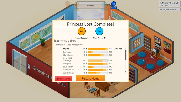Game Dev Tycoon screen shot 4