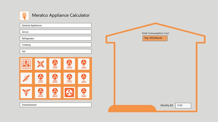 Meralco Appliance Calculator screen shot 0
