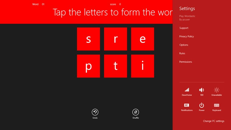 Play Wordastic ekrānuzņēmums 2