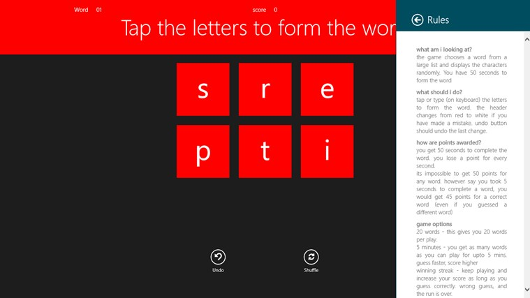 Play Wordastic ekrānuzņēmums 4