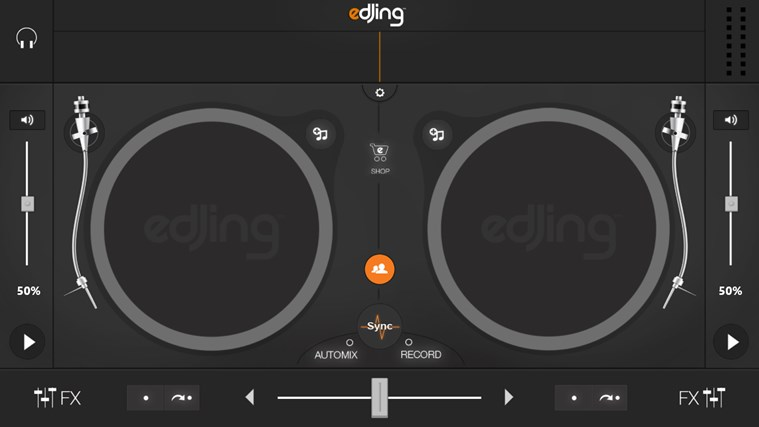 edjing - DJ mixer console studio - Play, Mix, Record & Share your sound! skjermbilde 0