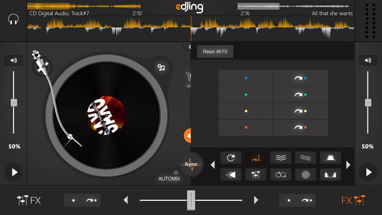 edjing - DJ mixer console studio - Play, Mix, Record & Share your sound! skjermbilde 4
