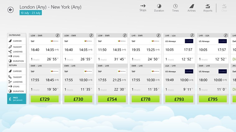Skyscanner screen shot 4