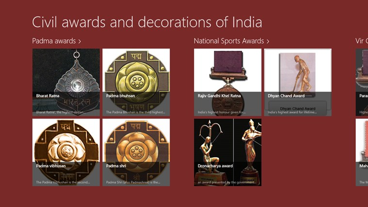 Opinions on civil awards and decorations for Awards and decoration