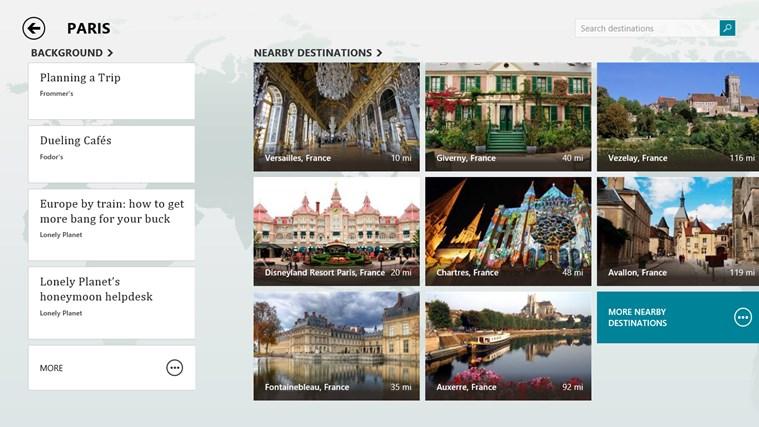 Bing Travel screen shot 4