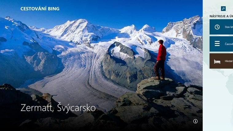 Cestování Bing snímek obrazovky 0