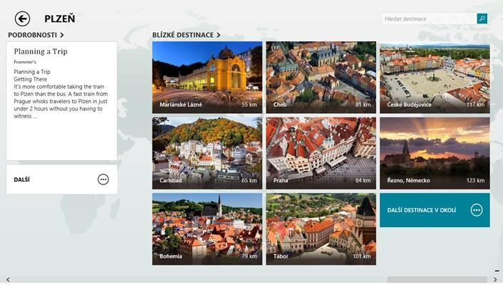 Cestování Bing snímek obrazovky 4