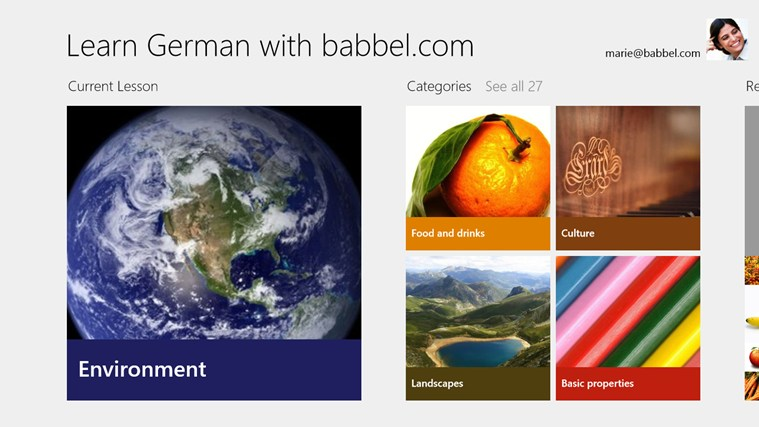 Learn German with babbel.com screen shot 0