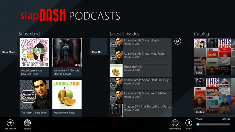 SlapDash Podcasts Pro screen shot 0
