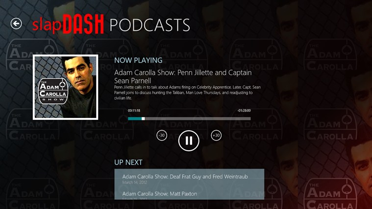 SlapDash Podcasts Pro screen shot 2
