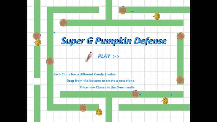 Super G Pumpkin Defense screen shot 0