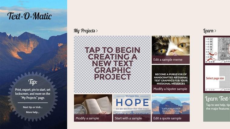 Text-O-Matic screen shot 0