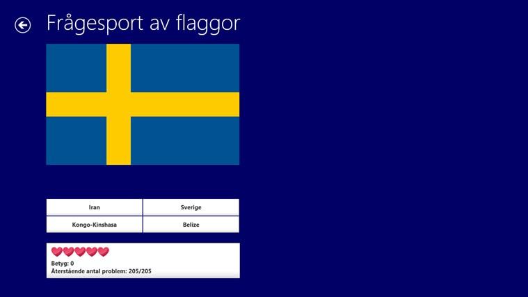 Värld Nationsflaggor-skärmbild 4
