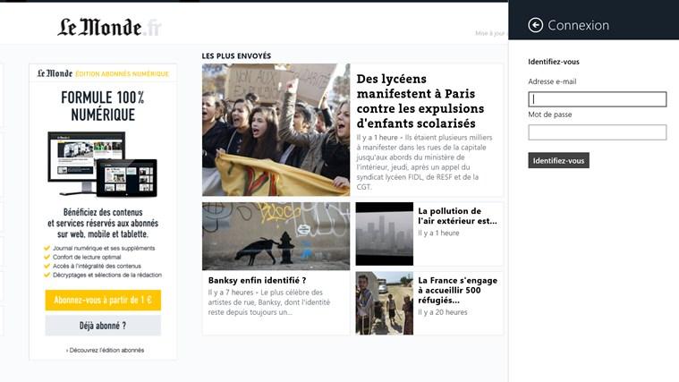 Le Monde.fr capture d'écran 2