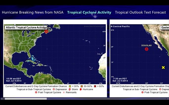 Hurricane and Tropical Storm Report screen shot 0
