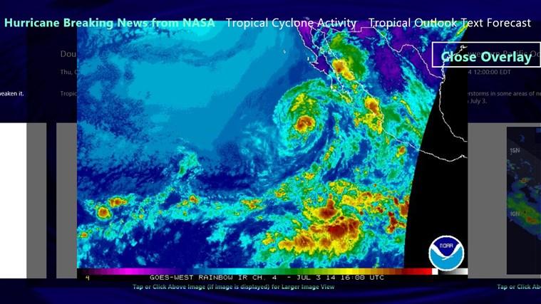 Hurricane and Tropical Storm Report screen shot 2