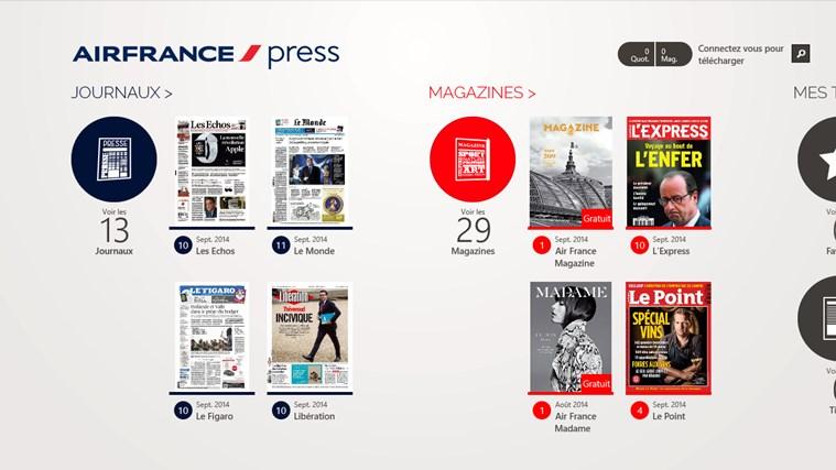 Air France Press capture d'écran 0