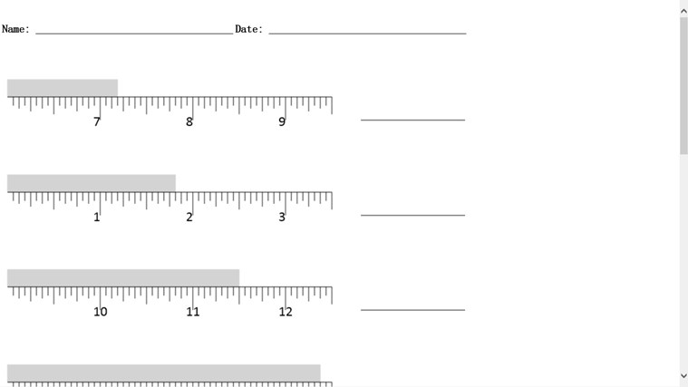 Measurement Worksheet Generator app for Windows in the Windows Store