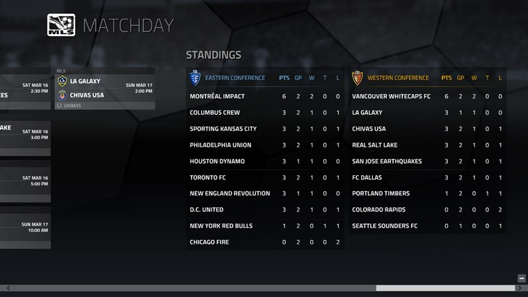 MLS MatchDay screen shot 2