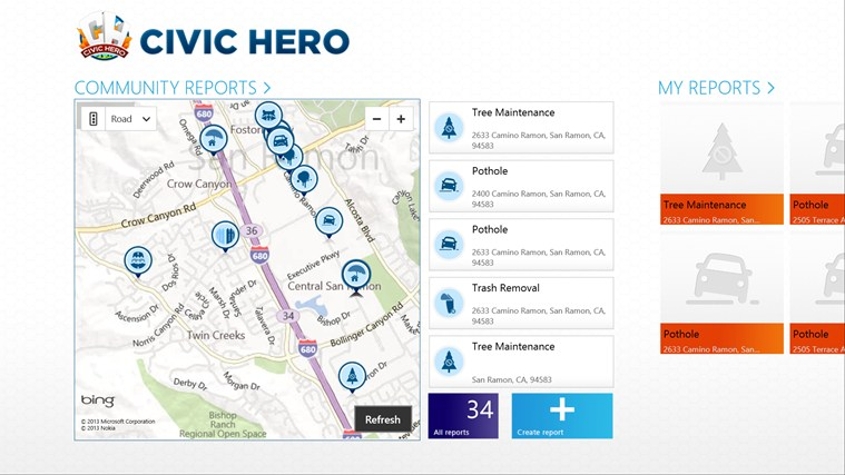 Civic Hero screen shot 0