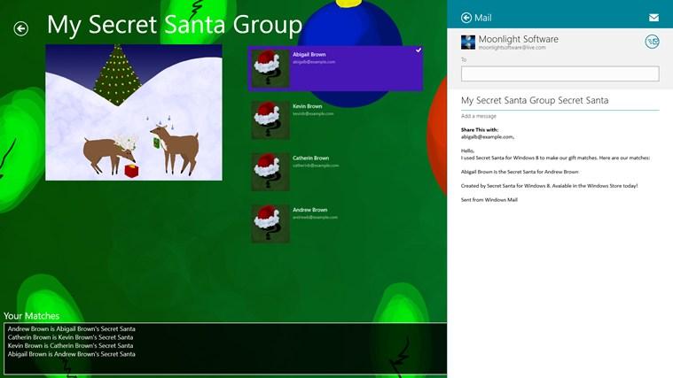 Secret Santa screen shot 2