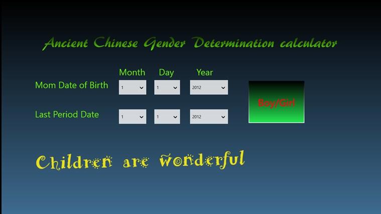Ancient Chinese Gender Predictor gabháil scáileáin 0