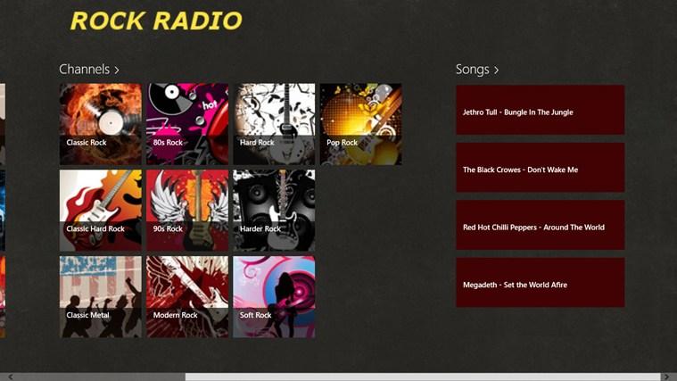 RockRadio screen shot 2