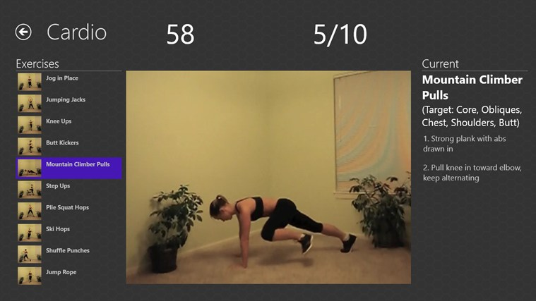 Daily Workouts screen shot 2