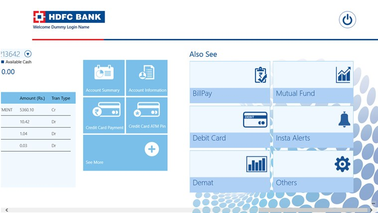 HDFC Bank screen shot 6