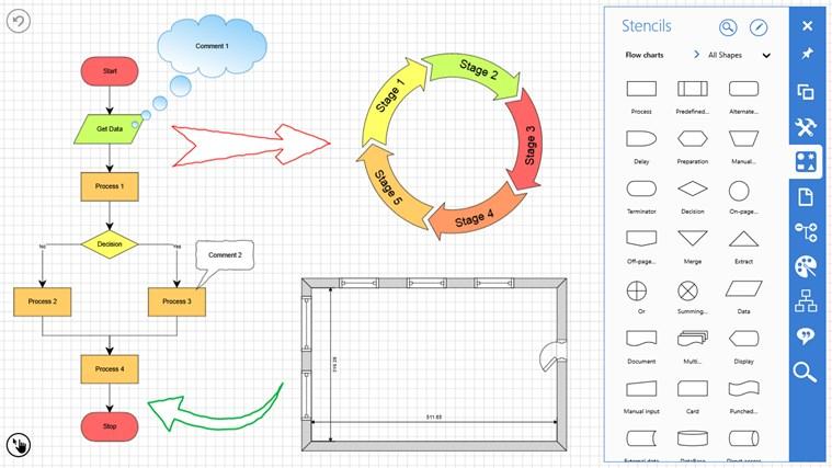 Grapholite - Diagrams, Flow Charts and Floor Plans Designer screen shot 0