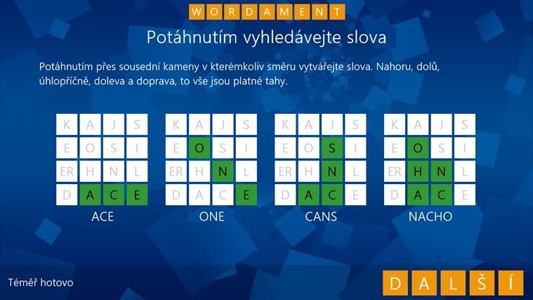 Wordament snímek obrazovky 2