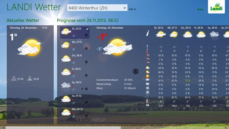 landi wetter app f r windows in windows store. Black Bedroom Furniture Sets. Home Design Ideas