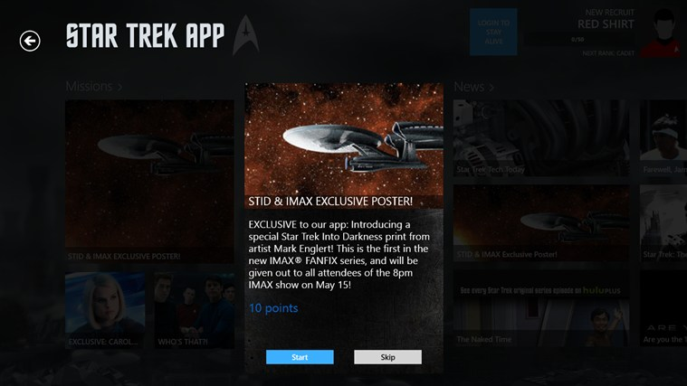 Star Trek App screen shot 2