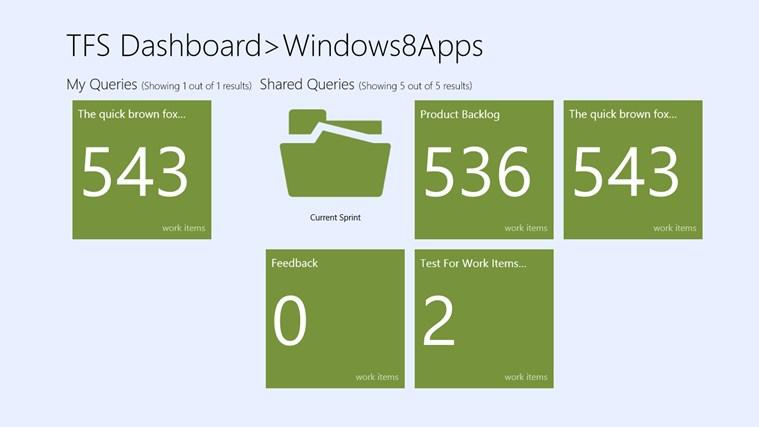 TFSDashboard screenshot