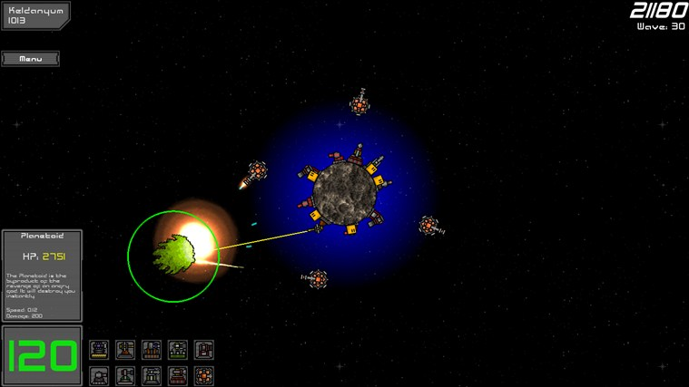 Planetoid Defense screen shot 2