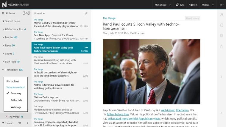 Nextgen Reader Screenshot 2
