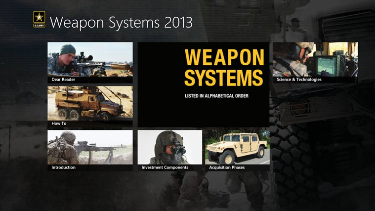 Army Weapon Systems Handbook screen shot 0