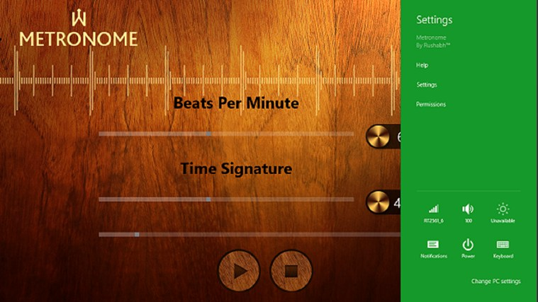 Metronome screen shot 2