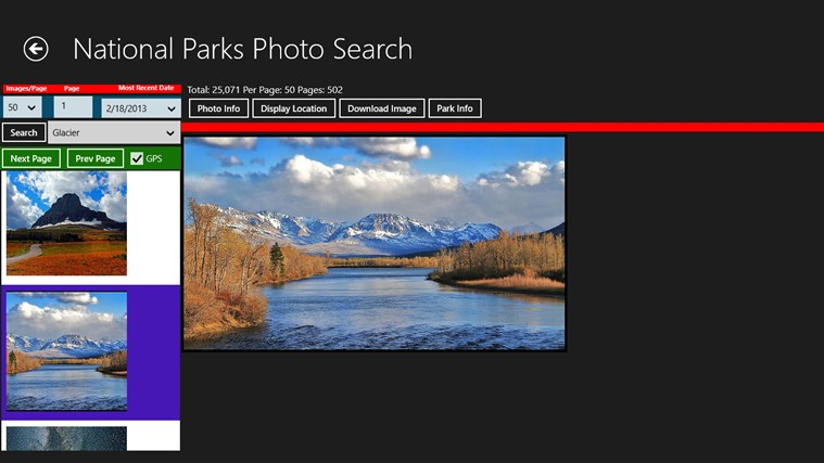 National Parks Photo Search screen shot 0
