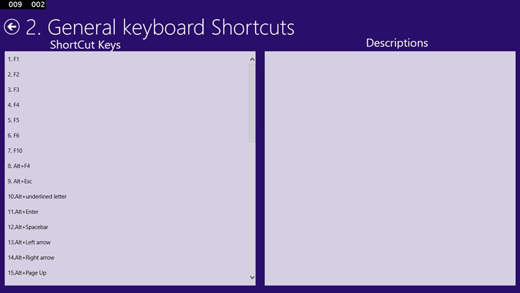 Windows 8.1 Shortcut Keys screen shot 0
